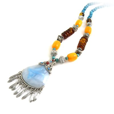 24611-resin with alloy necklace