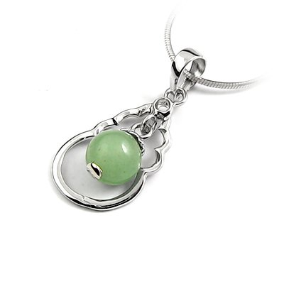 24642-Sterling silver with jade pendant