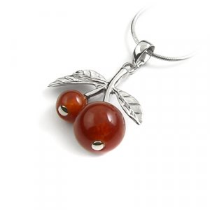 24649-Sterling silver with agate pendant