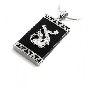 24652-Sterling silver with aggte pendant