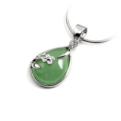 24661-Sterling silver with jade pendant