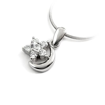 24669-Sterling silver with rhinestoe pendant