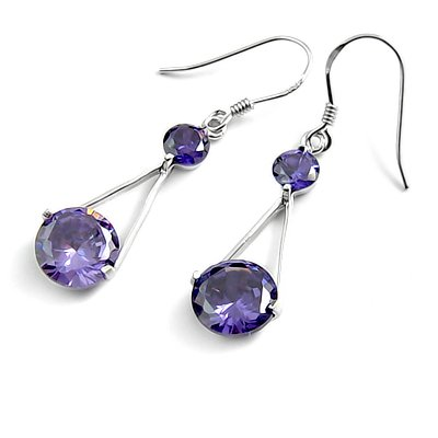 24689-sterling silver platium plated with rhinestoe earring