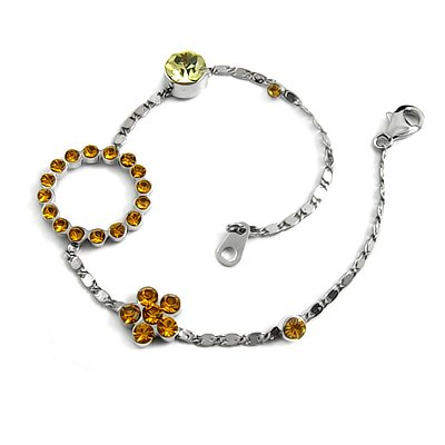 24698- sterling silver with rhinestoe bracelet