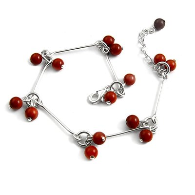 24700-sterling silver with agate bracelet
