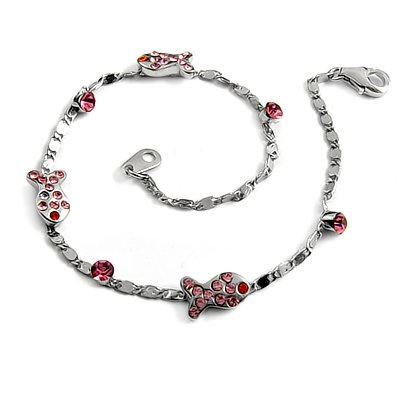 24706-sterling silver platium plated with rhinestoe bracelet