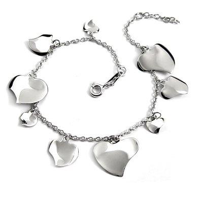 24709-sterling silver platium plated bracelet