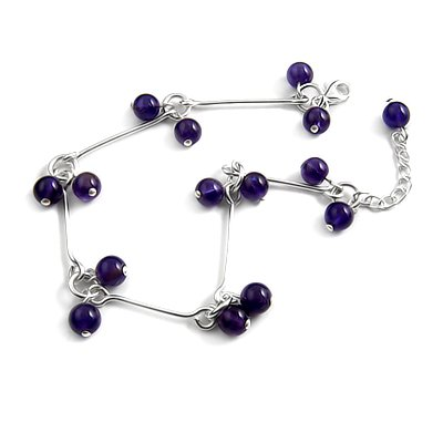 24712-sterling silver platium plated with crystal bracelet