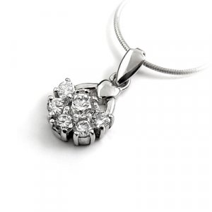 24719- Sterling silver with rhinestoe pendant