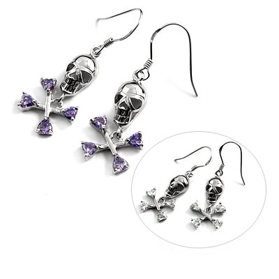 24724- Sterling silver with rhinestoe earring