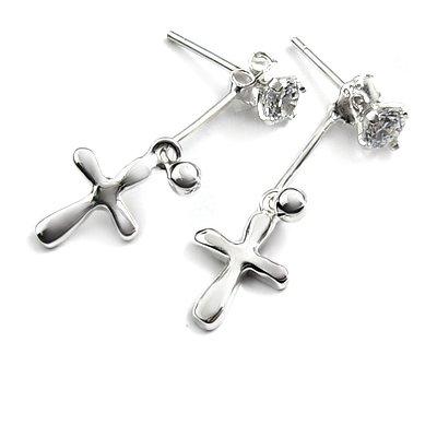24733-sterling silver with rhinestoe earring