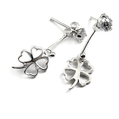 24734-sterling silver with rhinestoe earring