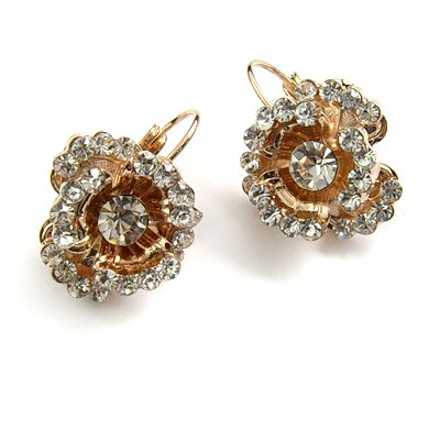 24743-alloy with rhinestoe earring