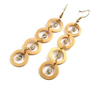 24765-alloy with rhinestoe earring