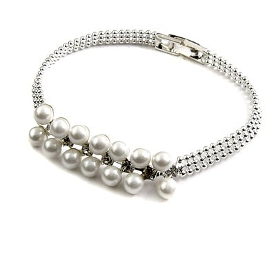 24787-alloy with artificail gemstone bracelet