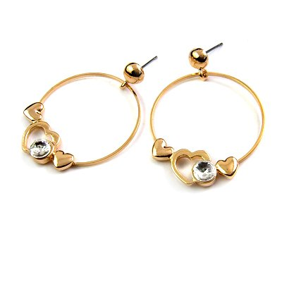 25186-alloy with stone earring