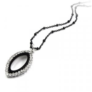 25195-alloy with stone necklace