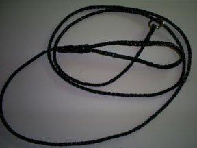 5' Braided Leather Slip Lead