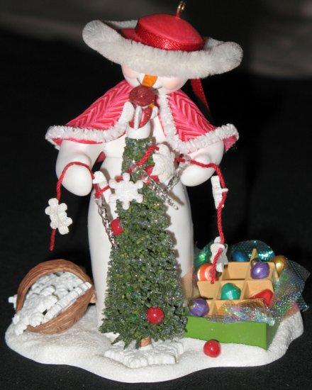 Decorating Snow Lady ornament