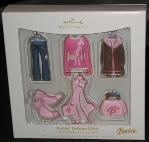 Barbie Fashion Minis ornament set
