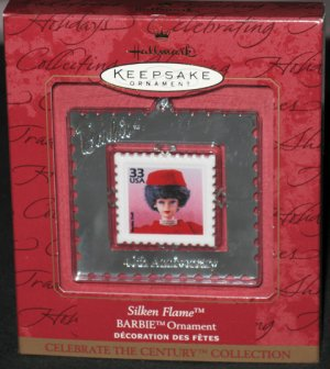Silken Flame Barbie Century Stamp Ornament