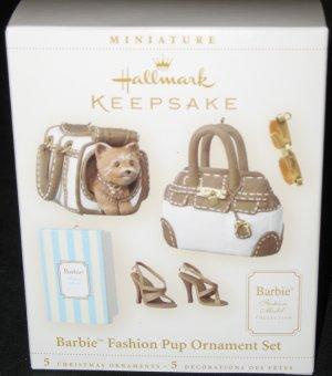 Fashion Pup Barbie Ornament Set
