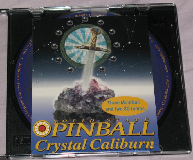 Crystal Caliburn Best Selling Pinball Game CD- Mac/Win