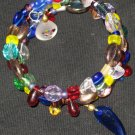 New age blue dolphin treasures--a memory wire bracelet