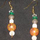 Frosted Disco Dangle Earrings
