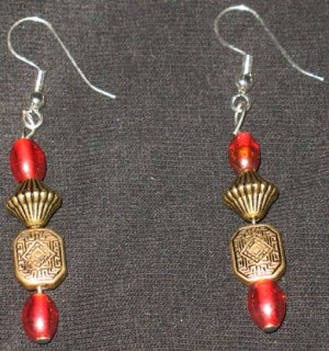 Aztec style yr 2012 dangle earrings