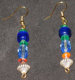 Retro Futuristic dangle earrings