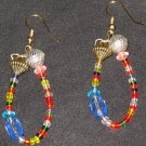 Misfit retro age dangling hoop earrings