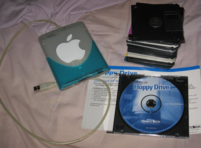 Smartdisk VST Floppy drive w/ 23 floppy disks