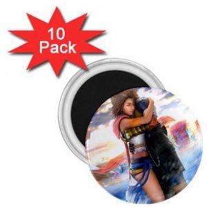 Yuna and Tidus hug--ffx/ff10-1 inch 10 Mini Magnets