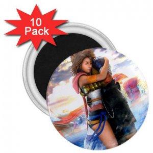Yuna and Tidus hug--ffx/ff10-2.25 inch 10 Magnets