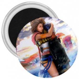 Yuna and Tidus hug--ffx/ff10--3 inch Magnet