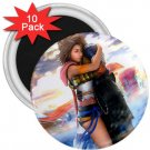 Yuna and Tidus hug--ffx/ff10--10-3 inch magnets