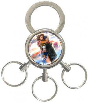Yuna and Tidus--ffx/ff10--3-Ring Key Chain