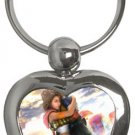 Yuna and Tidus--ffx/ff10--heart shaped key chain