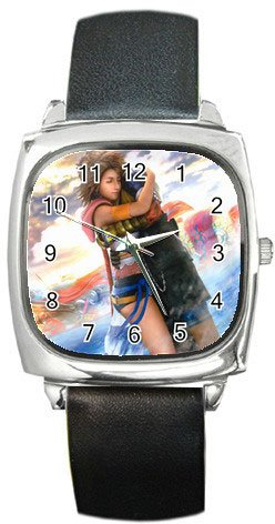 Yuna and Tidus--ffx/ff10--Square Metal Watch