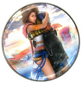 Yuna and Tidus--ffx/ff10--10 hat clip ball markers