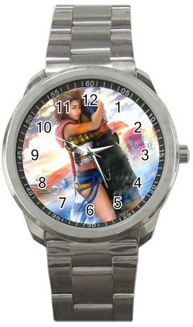 Yuna and Tidus--ffx/ff10--Sport Metal Watch