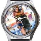 Yuna and Tidus--ffx/ff10--Round Metal Watch