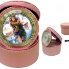 Yuna and Tidus--ffx/ff10-pink Jewelry Case Clock