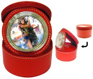 Yuna and Tidus--ffx/ff10-red Jewelry Case Clock