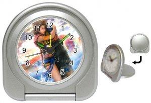 Yuna--Tidus--ffx/ff10- silver Travel Alarm Clock