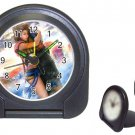 Yuna--Tidus--ffx/ff10- black Travel Alarm Clock