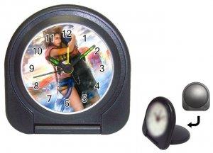 Yuna--Tidus--ffx/ff10- black Travel Alarm Clock
