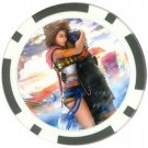 Yuna and Tidus--ffx/ff10--black Poker Chip Card Guard