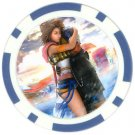 Yuna and Tidus--ffx/ff10--blue Poker Chip Card Guard